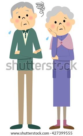 elderly couple trouble