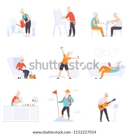stock-vector-elderly-people-enjoying-various-hobbies-senior-men-and-women-leading-an-active-lifestyle-social