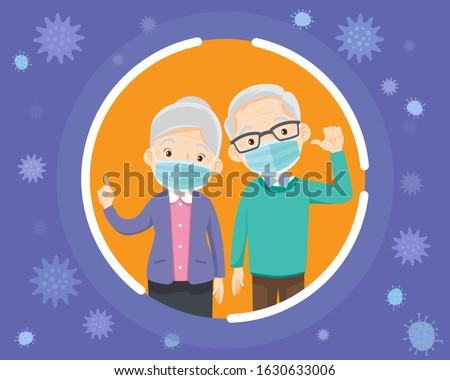 elderly wearing protective