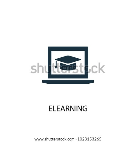 eLearning icon. Simple element illustration. eLearning symbol design from eLearning collection. Can be used in web and mobile.