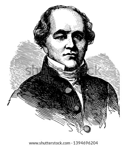 Eleazar Williams 1788 to 1858 he was a Canadian clergyman and missionary of Mohawk descent vintage line drawing or engraving illustration