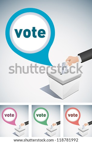 election box and speech bubble