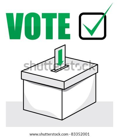 election box - ballot box - stock vector
