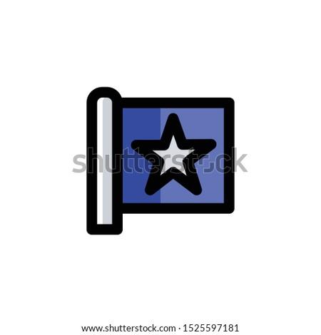 Election Day icon , Flag Logo, Politics Symbol .