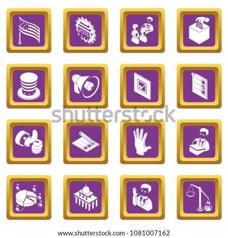 election voting icons set