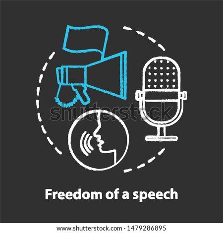 Elections chalk concept icon.  Propaganda spreading. Freedom of speech idea.  Expressing opinions, thoughts freely. Democracy, public opinion. Vector isolated chalkboard illustration