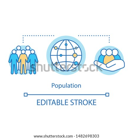 Electorate concept icon. Population idea thin line illustration. Society, community. National human resources. Voter demographic. Vector isolated outline drawing. Editable stroke