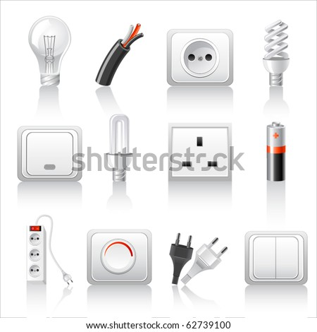Electric accessories icons