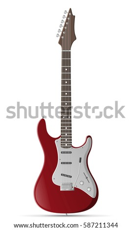 electric bass guitar stock
