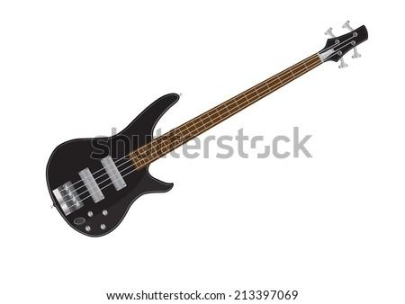 Electric bass guitar vector illustrations Foto d'archivio ©