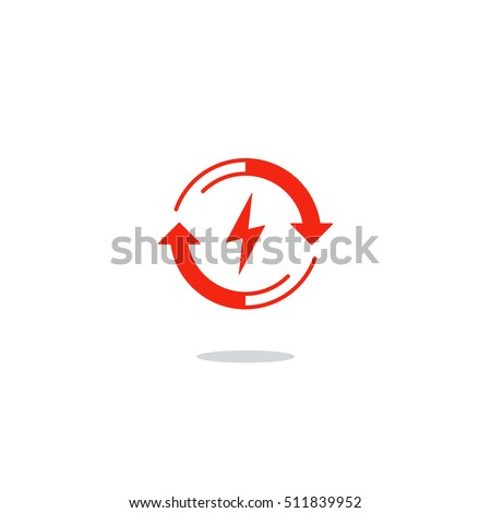 Electric battery charge concept, auto accumulator icon, energy efficiency. Flat design vector illustration. Electricity graphic elements
