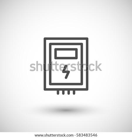 Electric box line icon