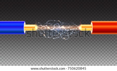 electric cable with sparks on