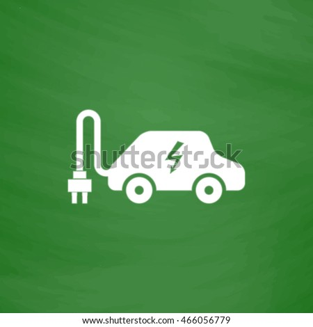 electric car flat icon