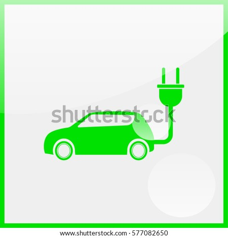 Electric car Icon.