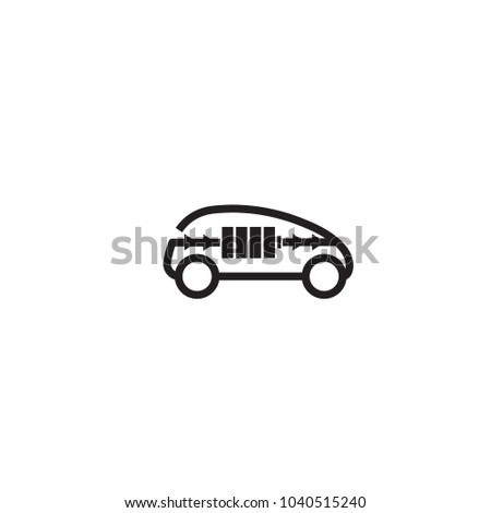 Electric Car icon, Future transportation vehicle symbol