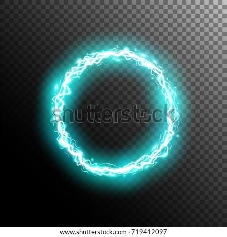 electric circle round frame