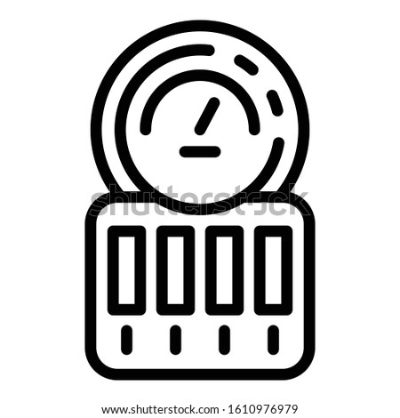 Electric counter icon. Outline electric counter vector icon for web design isolated on white background