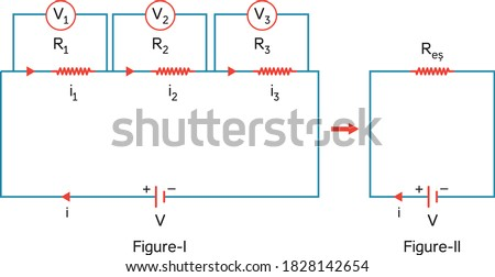 Electric current potential difference and resistance Stockfoto ©