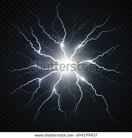 electric flash of lightning