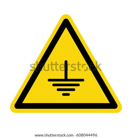 Electric grounding sign, symbol, vector