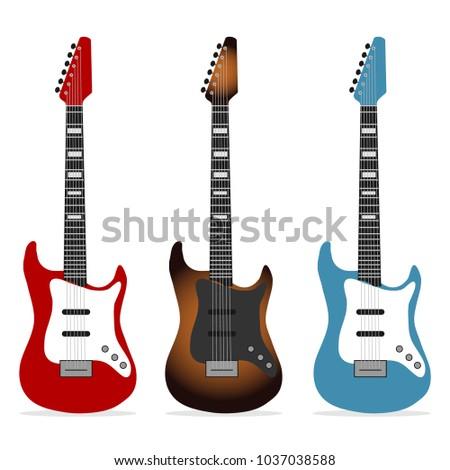 electric guitar  a set of