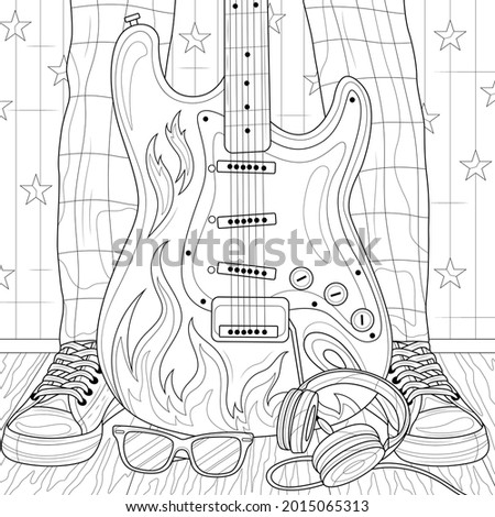electric guitar and feet