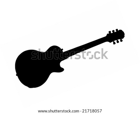 electric guitar isolated vector illustration