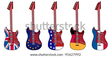 electric guitar made in british