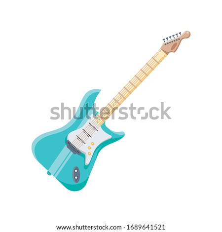 electric guitar on white