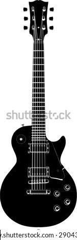 Electric Guitar Vector 02 - stock vector