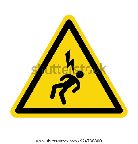 Electric hazard sign. Symbol, vector, illustration