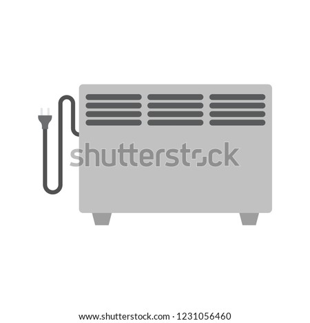Electric heater. Electric heater concept on white background. Vector illustration. EPS 10. #1231056460