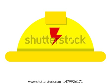 Electric helmet, Electric hat, electricity, technician electricity power, vector