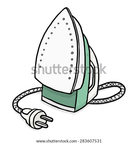 Electric Iron Cartoon Vector And Stock Photo 283606889