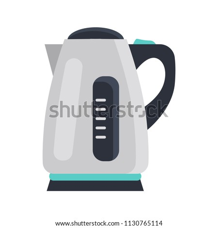 Electric kettle color flat isolated on white icon Stock photo ©