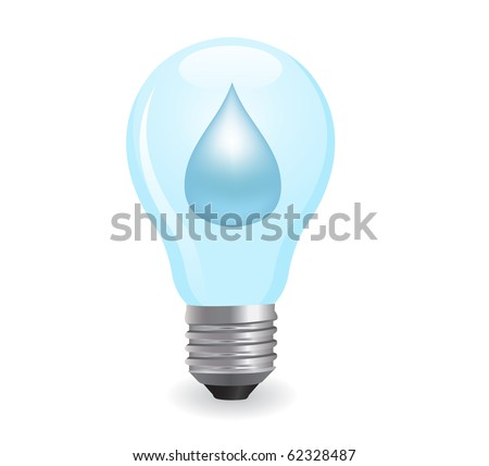 electric light bulb symbolizing energy of water