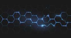 electric lightning honeycomb background