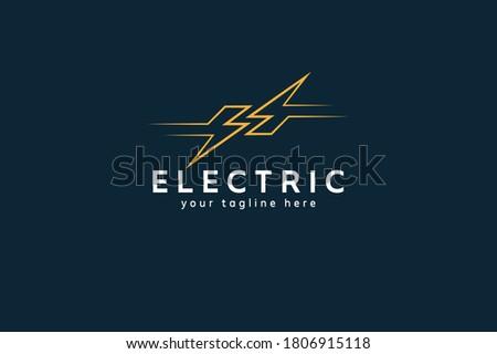 Electric Logo, abstract letter S from negative space lightning bolt , tunder bolt design logo template, vector illustration Stock fotó ©