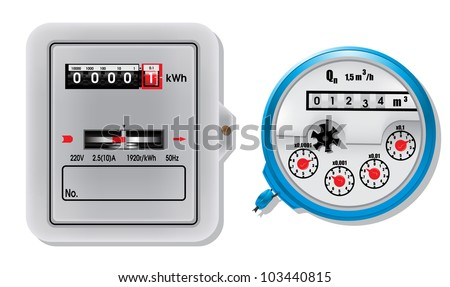 Electric meter and water meter