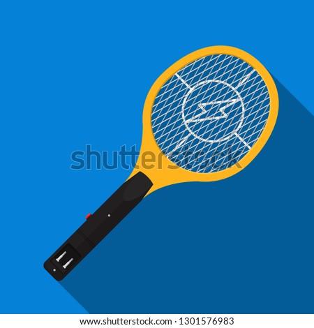 Electric mosquito swatter vector flat design. Сток-фото ©