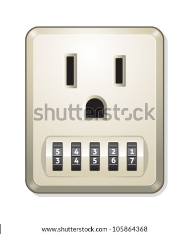 Electric Outlet With Combination Lock