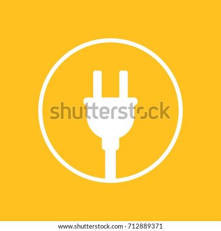 electric plug icon in circle