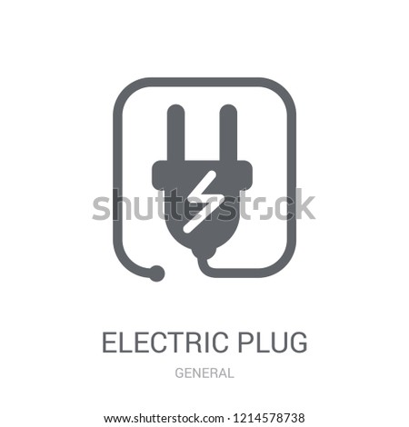 electric plug icon. Trendy electric plug logo concept on white background from General collection. Suitable for use on web apps, mobile apps and print media.