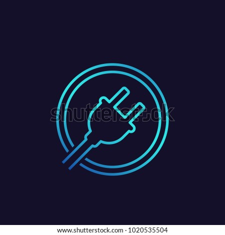 electric plug icon, vector logo
