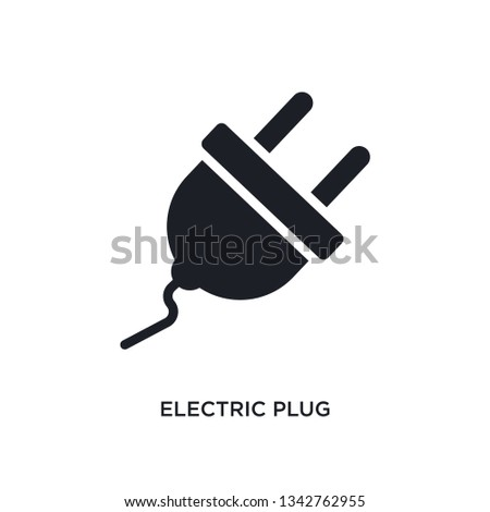electric plug isolated icon. simple element illustration from general-1 concept icons. electric plug editable logo sign symbol design on white background. can be use for web and mobile