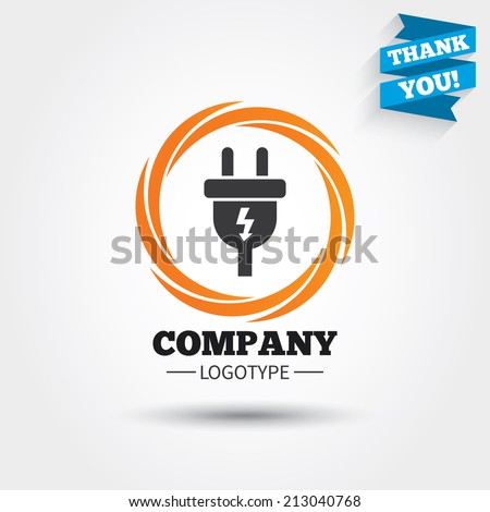 electric plug sign icon power