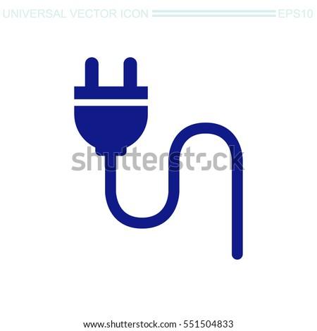 Electric plug vector icon.