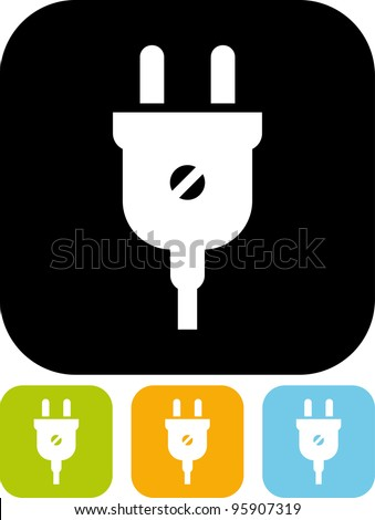 Electric plug Vector icon isolated
