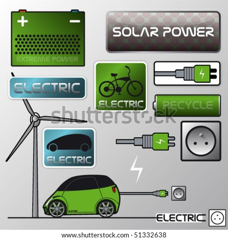 Electric power - stock vector